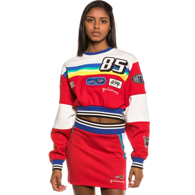 Grimey Arch Rival girl Crop Crewneck SS20 Red