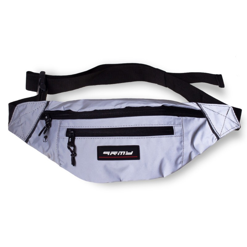 Grimey Sighting in Vostok Reflective Fanny Pack FW19 Silver
