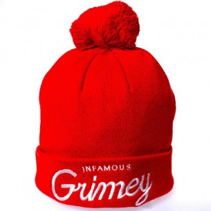 Grimey Infamous Ball Hat Red