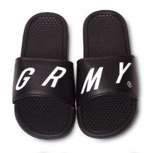 Grimey Happy End F.A.L.A Sliders SS19 Black