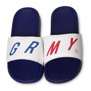Grimey Happy End F.A.L.A Sliders SS19 White