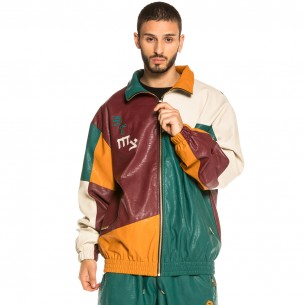 Grimey Call of Yore PU Leather Track Jacket FW20 Multi