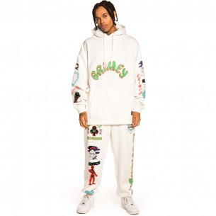 """Pack Grimey Pant + Hoodie """"Destroy All Fear"""" - White 