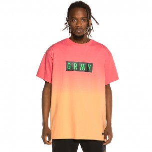 "Grimey ""Frenzy Gradient"" Tee - Pink 