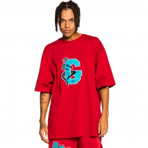 """Grimey """"Singgang Junction Love G Heavy Weight"""" Tee - Red 