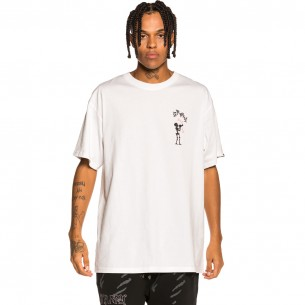 """Grimey """"The Throat-Clear"""" Tee - White 
