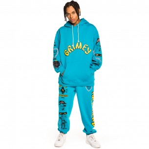 """Pack Grimey Pant + Hoodie """"Destroy All Fear"""" - Blue 