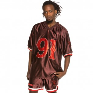 """Grimey """"The Loot"""" Brown Football Jersey 