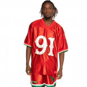 """Grimey """"The Loot"""" Red Football Jersey 