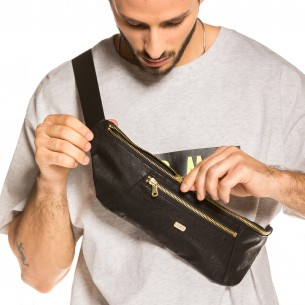 Grimey Call of Yore Pu Leather Fannypack FW20 Black