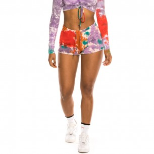 "Grimey ""Liveution"" Girl shorts Tie Dye 