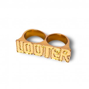Grimey Liveution SS21 Golden Double finger ring Spring 21