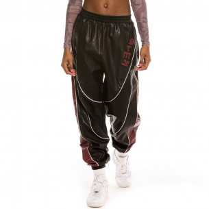 Grimey Call Of Yore Girl PU Leather Pant FW20 Black