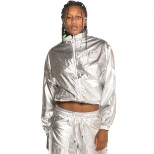 Grimey Planet Noire Girl Track Jacket FW19 Silver
